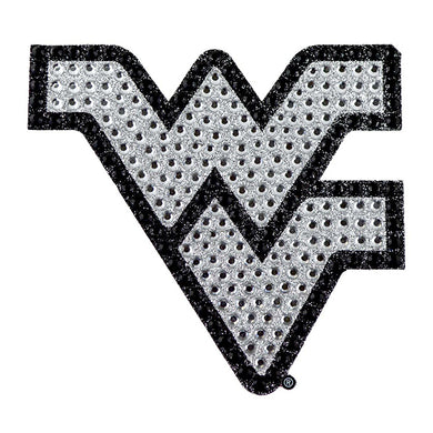 west virginia mountainers bling auto emblem