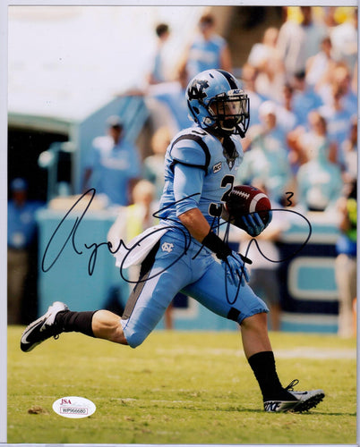 ryan switzer autograph, unc tar heels, north carolina tar heels, oakland raiders