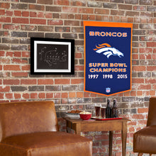 "Denver Broncos Dynasty Champions Wool Banners - 24""x36"""