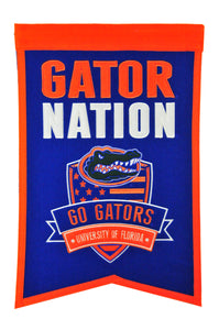 "Florida Gators Nation Banner - 14""x22"""