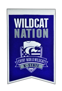 "Kansas State Wildcats Nation Banner - 14""x22"""