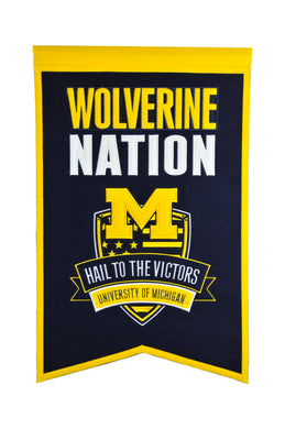 Michigan Wolverines Nation Banner - 14