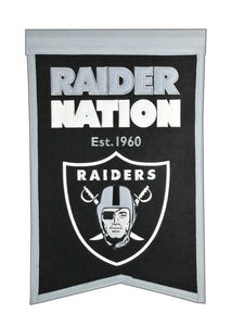 "Oakland Raiders Franchise Banner - 14""x22"""