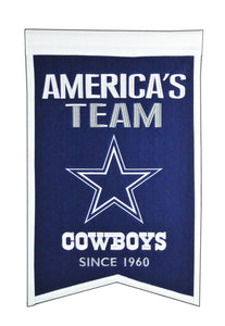 "Dallas Cowboys Franchise Banner - 14""x22"""