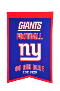 "New York Giants Franchise Banner - 14""x22"""