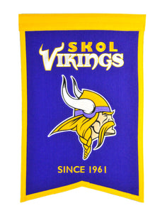 "Minnesota Vikings Franchise Banner - 14""x22"""