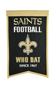 "New Orleans Saints Franchise Banner - 14""x22"""