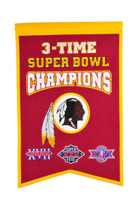 Washington Football Team Super Bowl Champions Banner