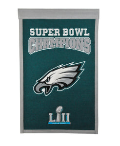 philadelphia eagles super bowl 52 champions, philadelphia eagles super bowl champs, wool banner