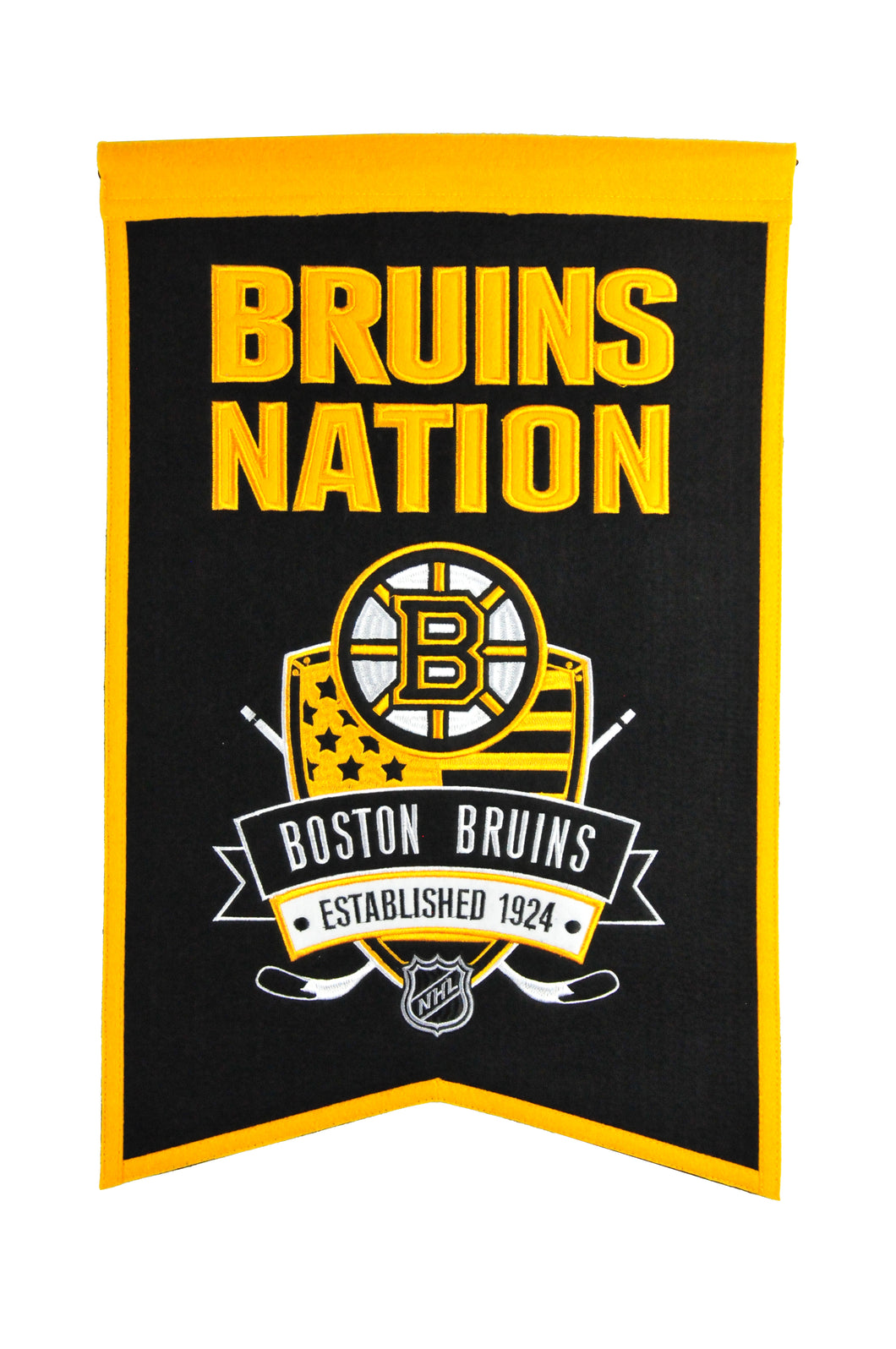 Boston Bruins Nations Wool Banner - 14