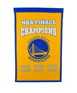 "Golden State Warriors Champions Wool Banner - 14""x22"""