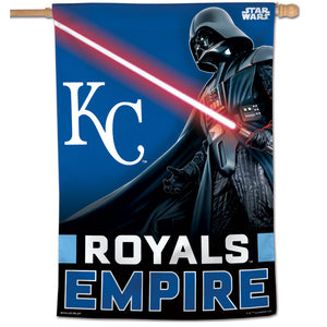"Kansas City Royals Star Wars Darth Vader Vertical Flag - 28""x40"""