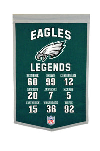 "Philadelphia Eagles Legends Banner - 14""x22"""