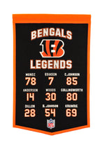 "Cincinnati Bengals Legends Banner - 14""x22"""