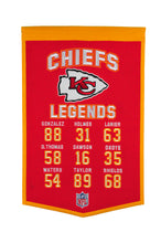 "Kansas City Chiefs Legends Banner - 14""x22"""