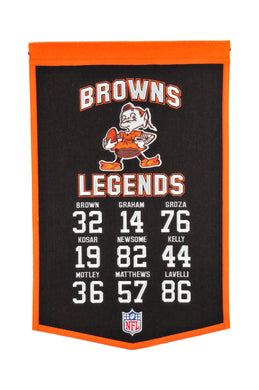 Cleveland Browns Legends Banner - 14