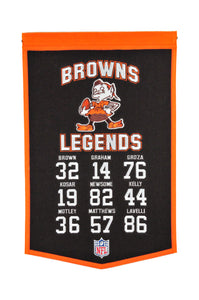 "Cleveland Browns Legends Banner - 14""x22"""