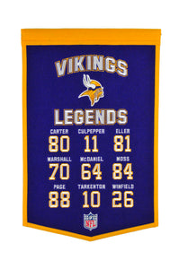 "Minnesota Vikings Legends Banner - 14""x22""\"