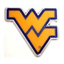 wvu basketball, wvu football, wvu car crhome emblem