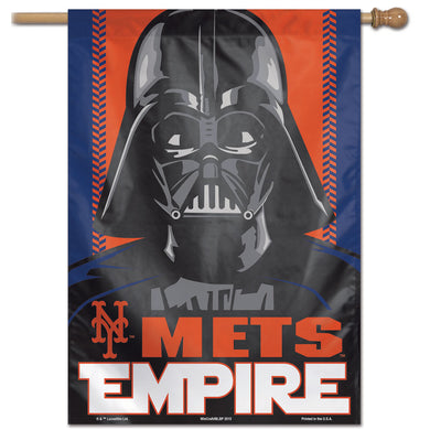 New York Mets Star Wars Darth Vader Vertical Flag - 28