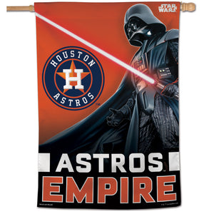 "Houston Astros Star Wars Darth Vader Vertical Flag - 28""x40"""
