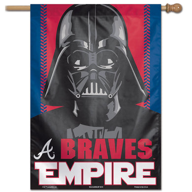Atlanta Braves Star Wars Darth Vader Vertical Flag - 28