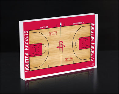 Houston Rockets Court 3D Acrylic Block