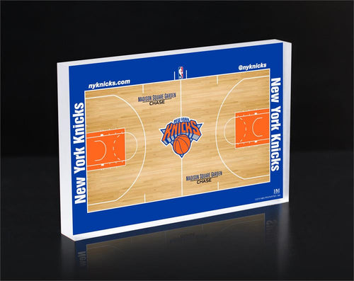 New York Knicks Court 3D Acrylic Block