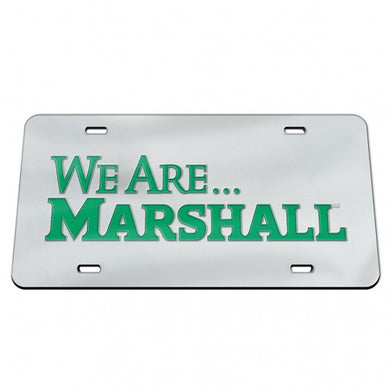 we are marshall license plate, marshall thundering herd license plate