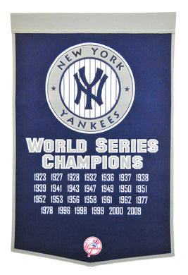 new york yankees world series champions wool dynasty banners