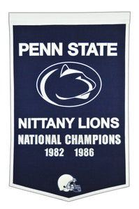 "Penn State Nittany Lions Dynasty Wool Banner - 24""x36"""