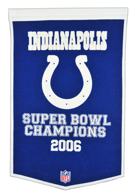 indianapolis colts super bowl champions dynasty wool banner