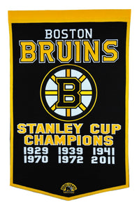 boston bruins stanley cup champions dynasty banner