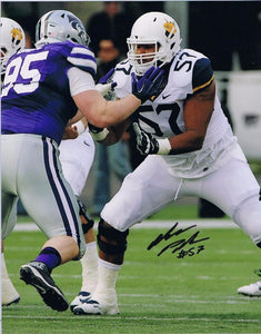 wvu football, adam pankey autograph