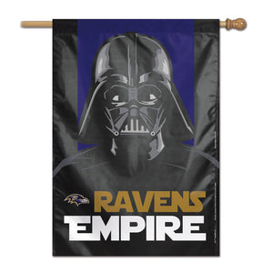 "Baltimore Ravens Star Wars Darth Vader Vertical Flag - 28""x40"""