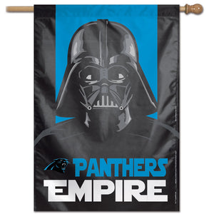 "Carolina Panthers Star Wars Darth Vader Vertical Flag - 28""x40"""