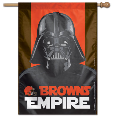 Cleveland Browns Star Wars Darth Vader Vertical Flag - 28