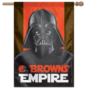 "Cleveland Browns Star Wars Darth Vader Vertical Flag - 28""x40"""