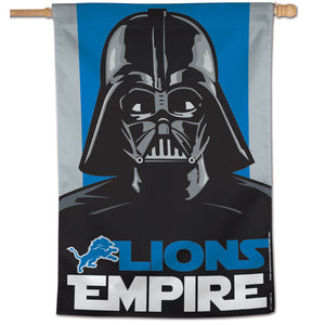 "Detroit Lions Darth Vader Vertical Flag - 28""x40"""