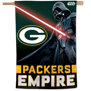 "Green Bay Packers Darth Vader Vertical Flag - 28""x40"""