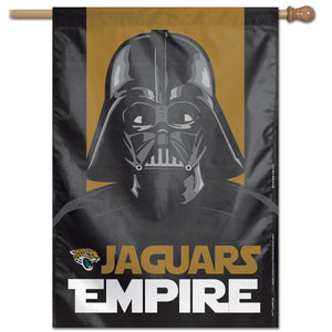 "Jacksonville Jaguars Star Wars Darth Vader Vertical Flag - 28""x40"""