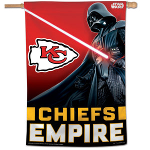 "Kansas City Chiefs Darth Vader Vertical Flag - 28""x40"""