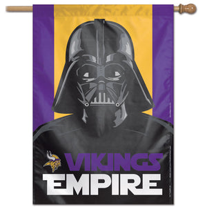 "Minnesota Vikings Darth Vader Vertical Flag - 28""x40"""