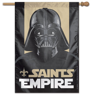 "New Orleans Saints Darth Vader Vertical Flag - 28""x40"""