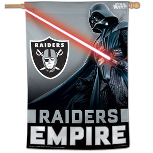 "Oakland Raiders Darth Vader Vertical Flag - 28""x40"""
