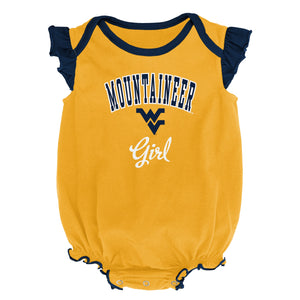 West Virginia Mountaineer Girl Onsie