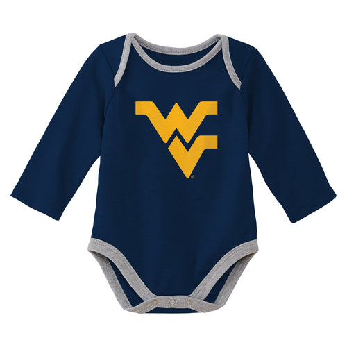 West Virginia Mountaineer Navy Onsie