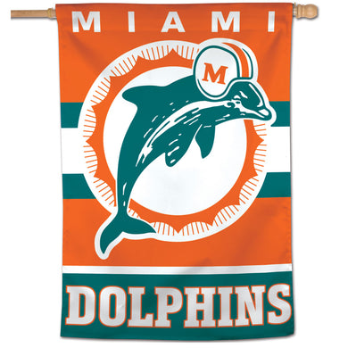Miami Dolphins Retro Vertical Flag - 28