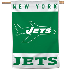 "New York Jets Retro Vertical Flag - 28""x40"""
