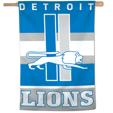 Detroit Lions Retro Vertical Flag - 28